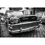 Diverse foto's op glas Amerikaanse auto