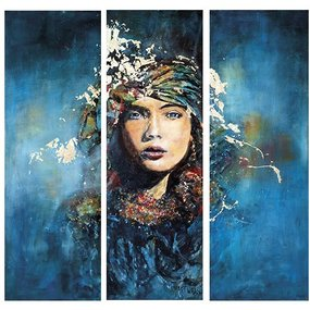 "GlassArt ""Lady in blue"""