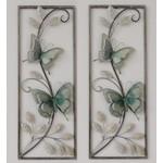 Metalen wanddecoratie vlinders