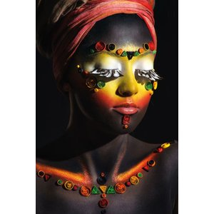 "Wanddecoratie ""African woman"""