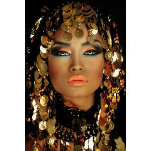 "Aluminium wanddecoratie ""Portrait of an Arabian Princess"""
