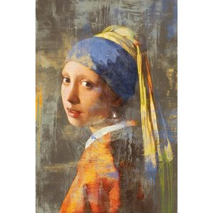 Vintage vloerkleed Vermeer Girl with pearl