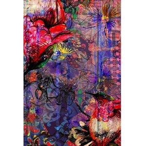Kleurrijk vloerkleed Botein Bloemen vogels modern