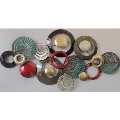 Wanddecoratie Metalen ringen