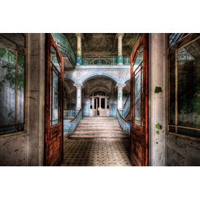 """Glasschilderij """"Old building"""""""
