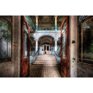 "Glazen wanddecoratie ""Old building"""