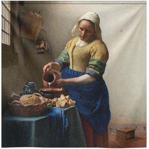 Wandkleed het melkmeisje van Johannes Vermeer