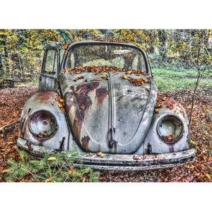 """Wandkleed """"Vintage Volkswagen kever"""""""