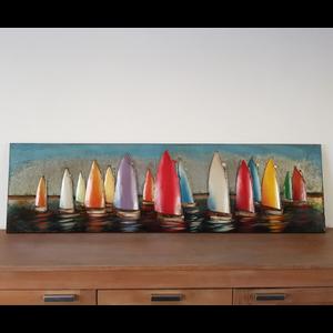 Schilderij zeilschepen