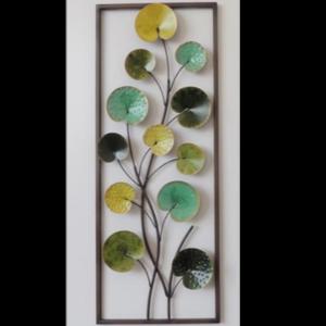 """Metalen wanddecoratie """"Groene bladeren"""