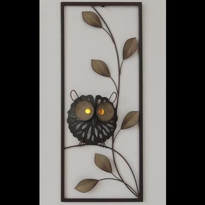 """Metalen wanddecoratie """"Uil"""""""