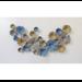 Metalen wanddecoratie Cirkels blauw/zilver/goud mat