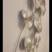 Metalen wanddecoratie Bladeren zilver