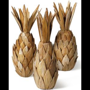 houten kunstwerk ananas