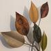 Metalen wanddecoratie bladeren klein