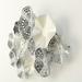 Metalen wanddecoratie cirkels zilver