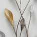 Metalen wanddecoratie Branch zilver/goud