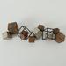 Metalen wanddecoratie Robuuste kubussen