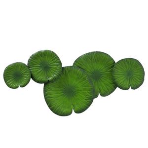 Metalen wanddecoratie Lelieblad groen