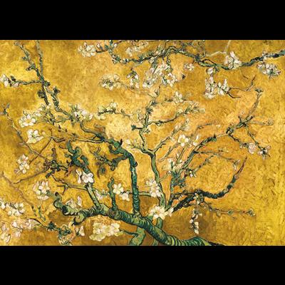 """Wandkleed """"Yellow blossom"""" Velvet"""