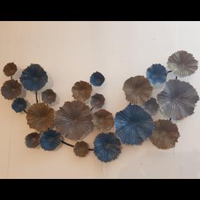 Cirkels blauw/zilver/goud mat
