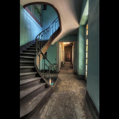 Aluminium wanddecoratie used stairs la cour
