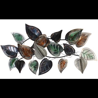 Metalen wanddecoratie 3d bladeren