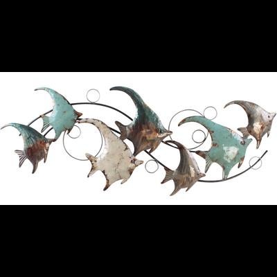 Metalen wanddecoratie Vissen