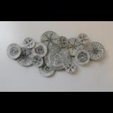 Wanddecoratie van metaal