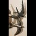 Metalen wanddecoratie Zwaluwen