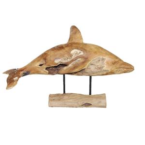 Houten kunstwerk Dolfijn