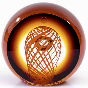 Kristallen object Boheems Kristal Oranje Bruin