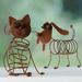 Metalen woondecoratie Hond & Kat