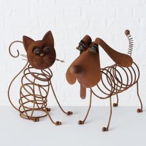 Metalen Hond & Kat