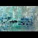 Aluminium wanddecoratie Turquoise