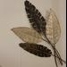 Metalen wanddecoratie Veren