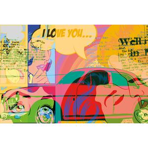 Popart classic car