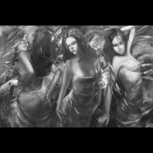 Wanddecoratie 3  vrouwen