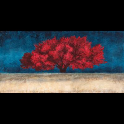 Aluminium wanddecoratie Red Tree