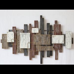 Metalen wanddecoratie Rechthoeken