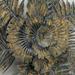 Metalen wanddecoratie vintage flower