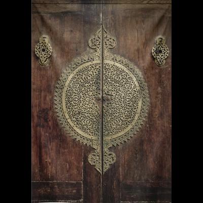 Wandkleed  Oude deur