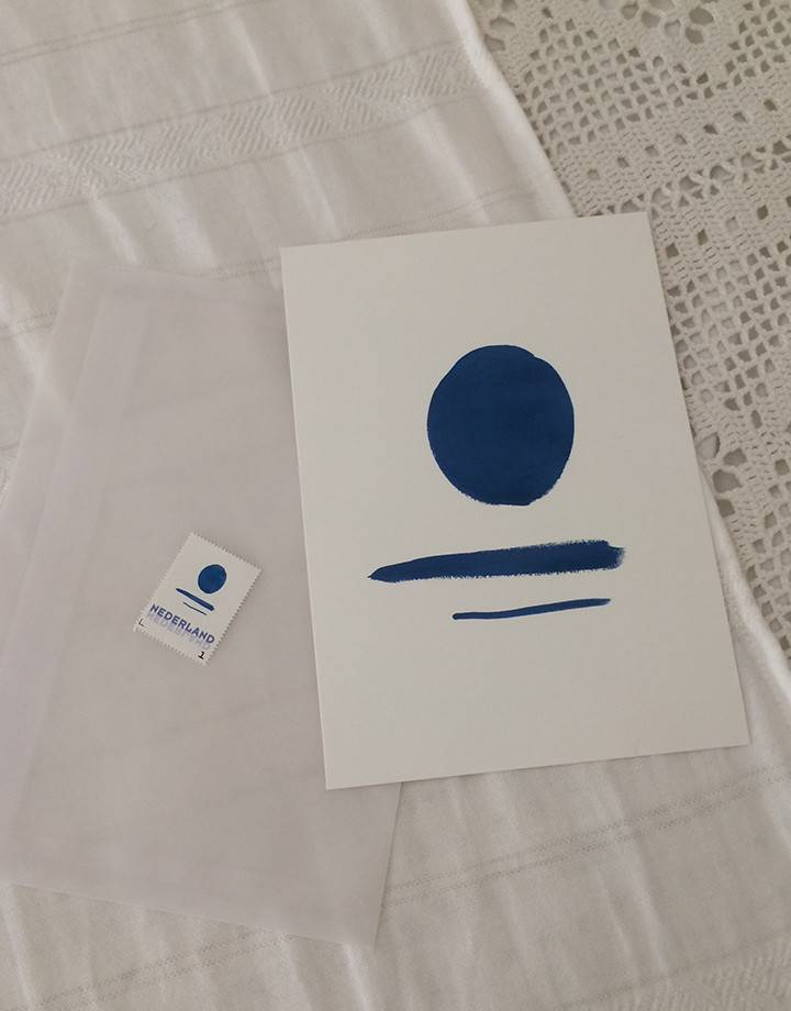 Lot du jour 'blue lagoon' postcard artwork