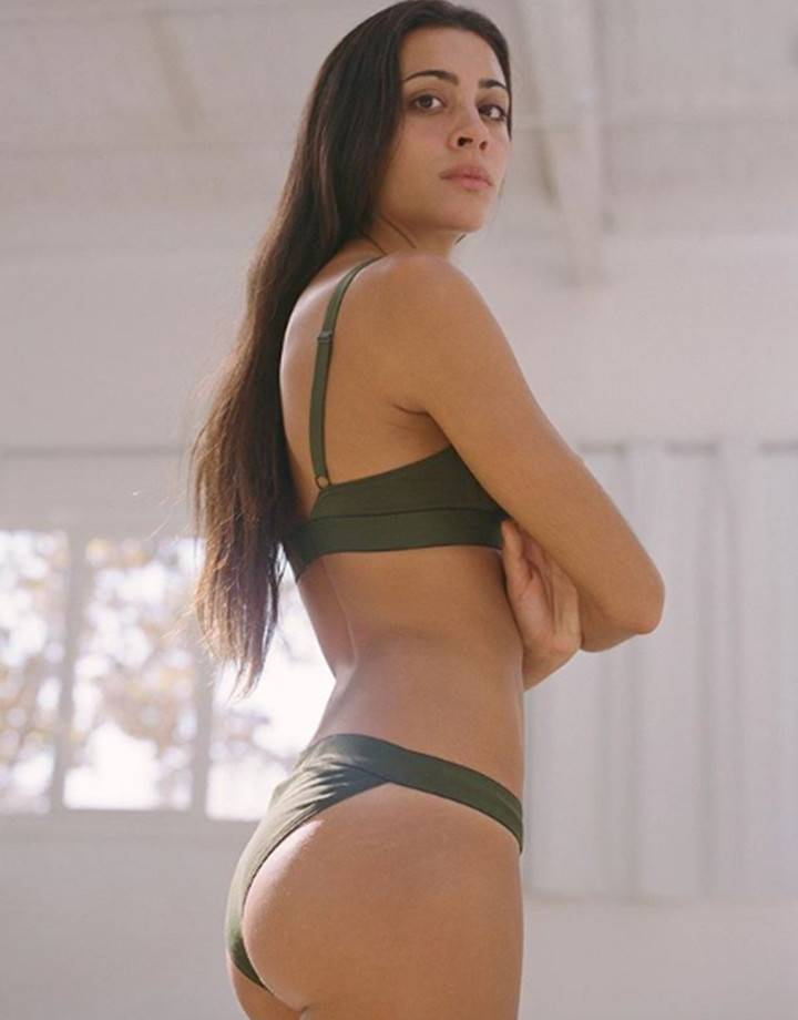 Cut out Bra Forest Green