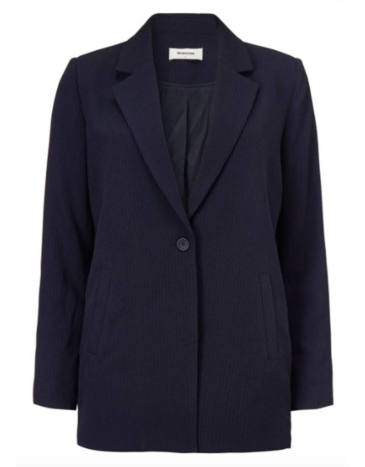 Janelle Blazer navy red stripe