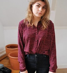 Jerkins print shirt dark cherry