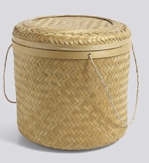 Hay bamboo basket