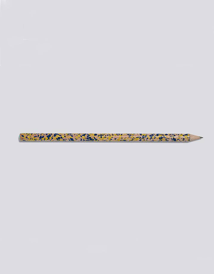 Hay terrazzo pencil navy and yellow