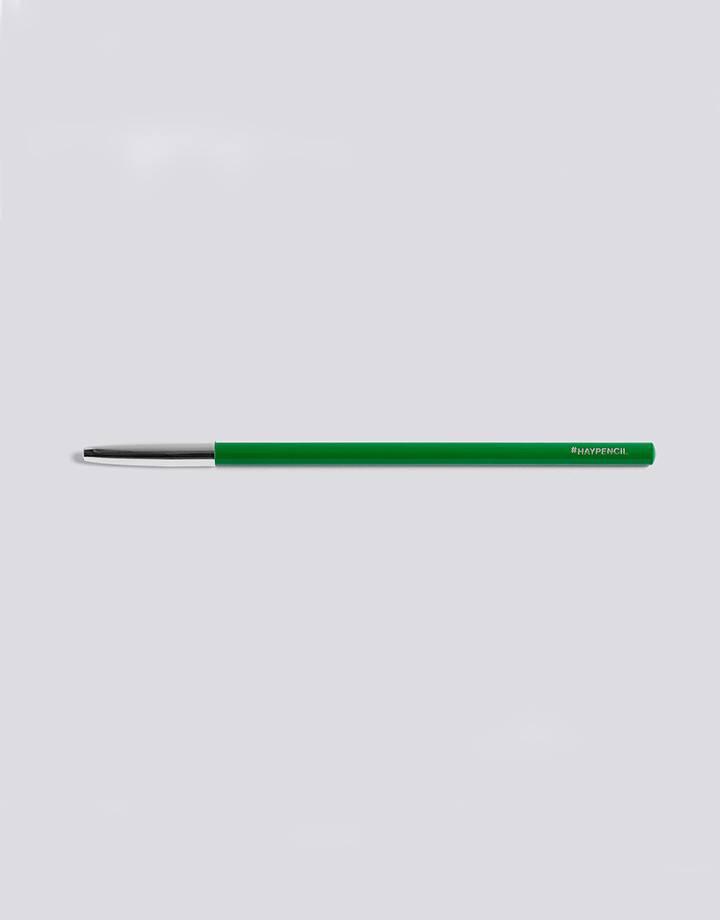 Hay pencil silver cap green