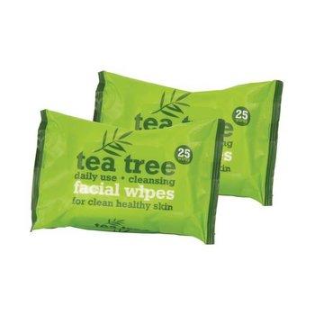 Tea Tree Facial Wipes - 2 x 25 stuks